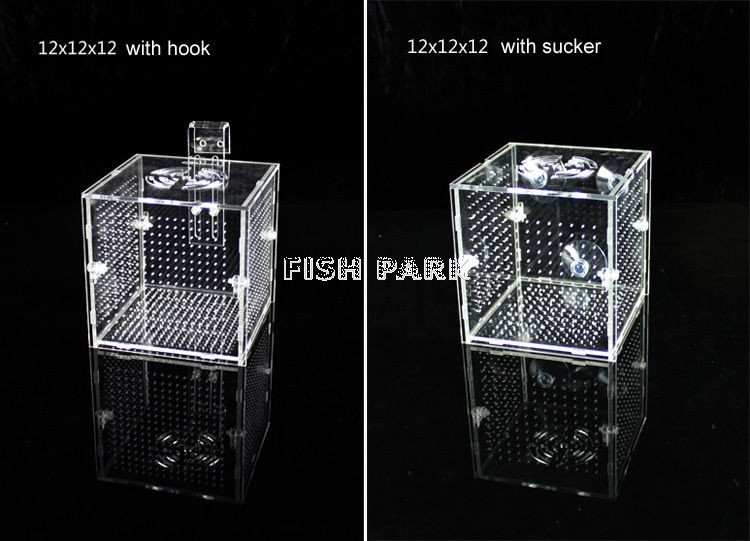 DAKE Aquarium Acrylic Assembled Fish Isolation Box Single,/Hook
